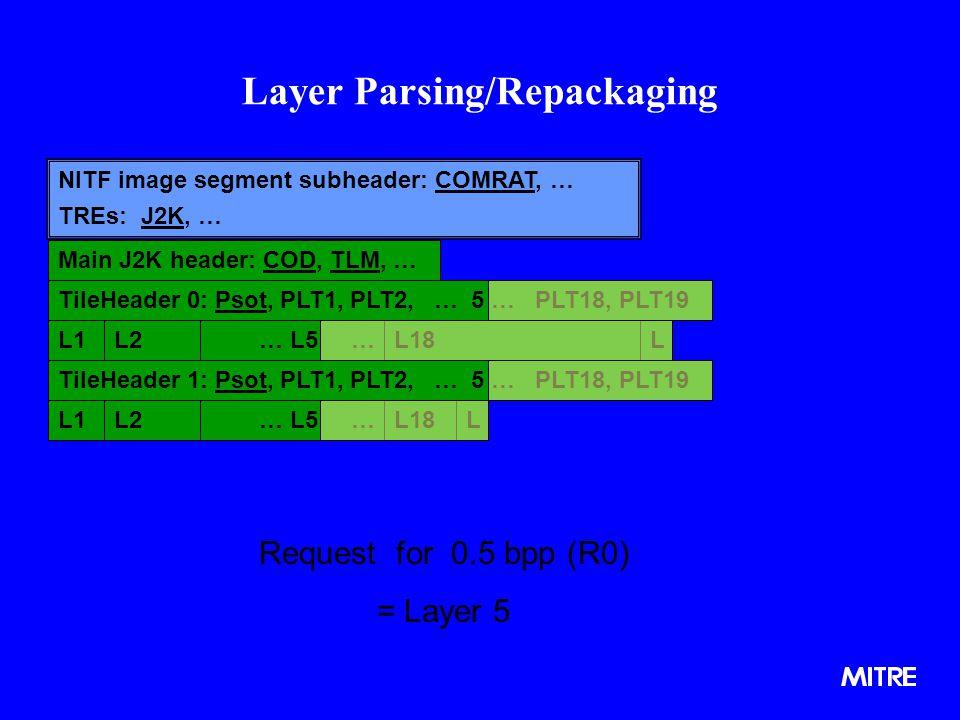 Layer Parsing/Repackaging