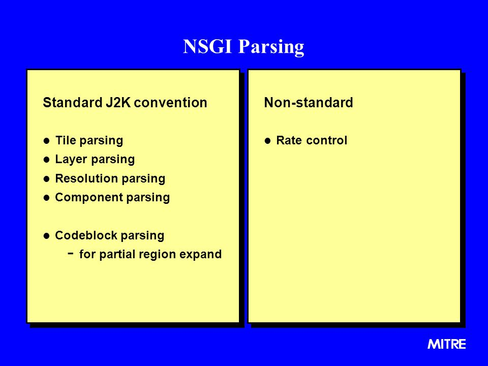 NSGI Parsing Standard J2K convention Non-standard Tile parsing