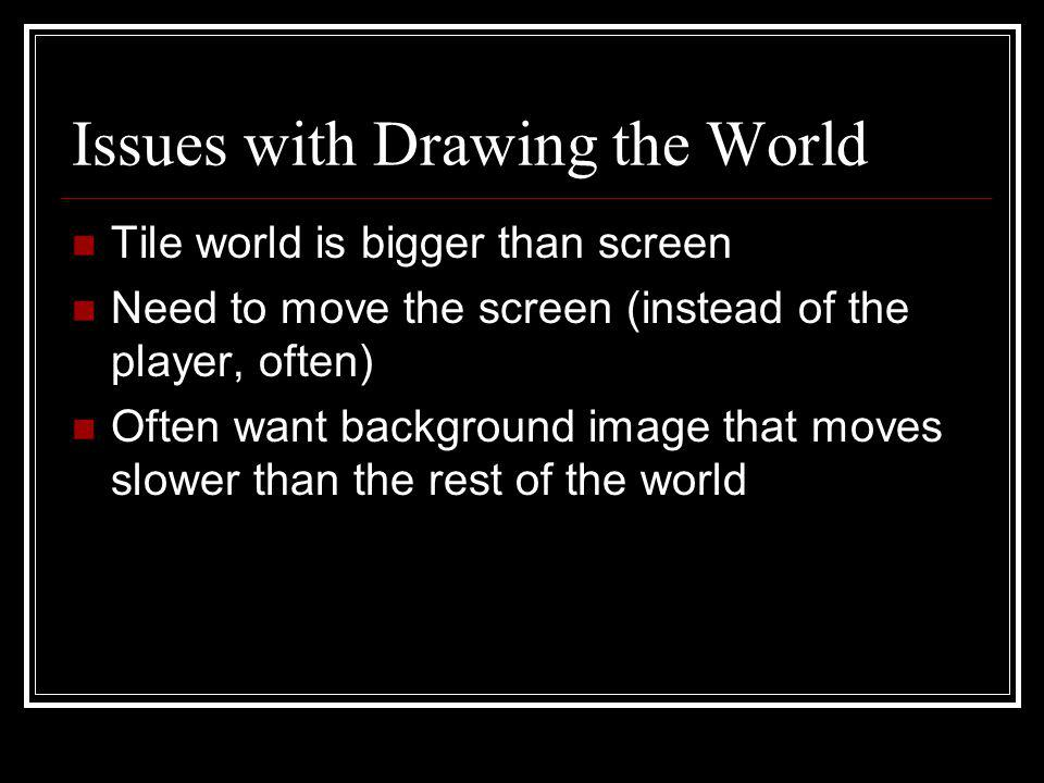 Issues with Drawing the World