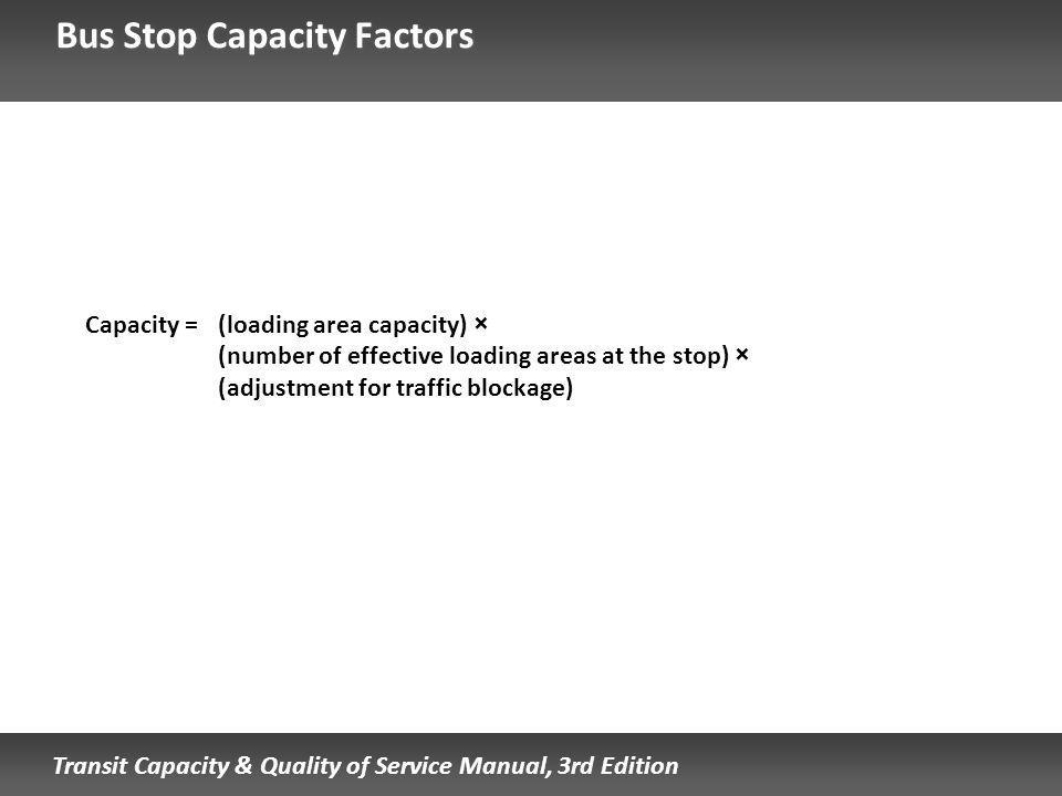 Bus Stop Capacity Factors