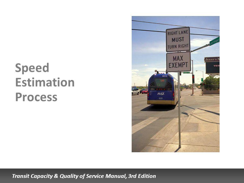 Speed Estimation Process