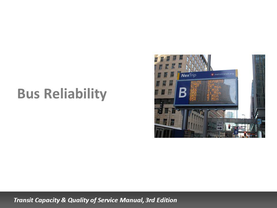 Bus Reliability