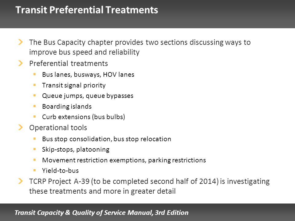 Transit Preferential Treatments