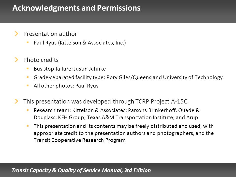 Acknowledgments and Permissions