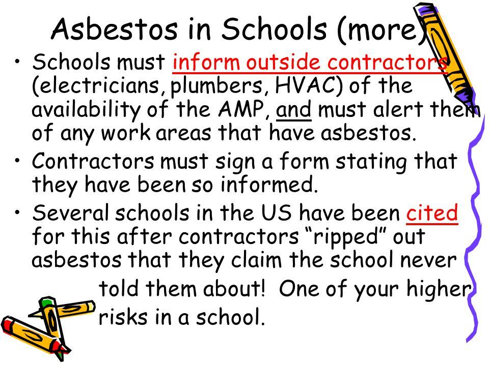 Asbestos in Schools (more)
