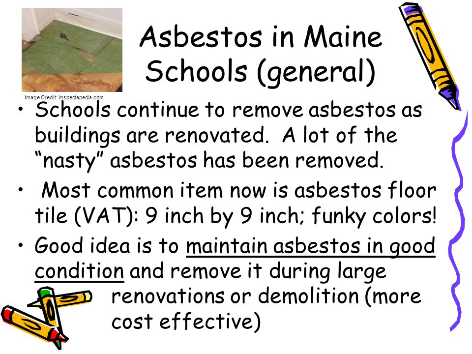 Asbestos in Maine Schools (general)