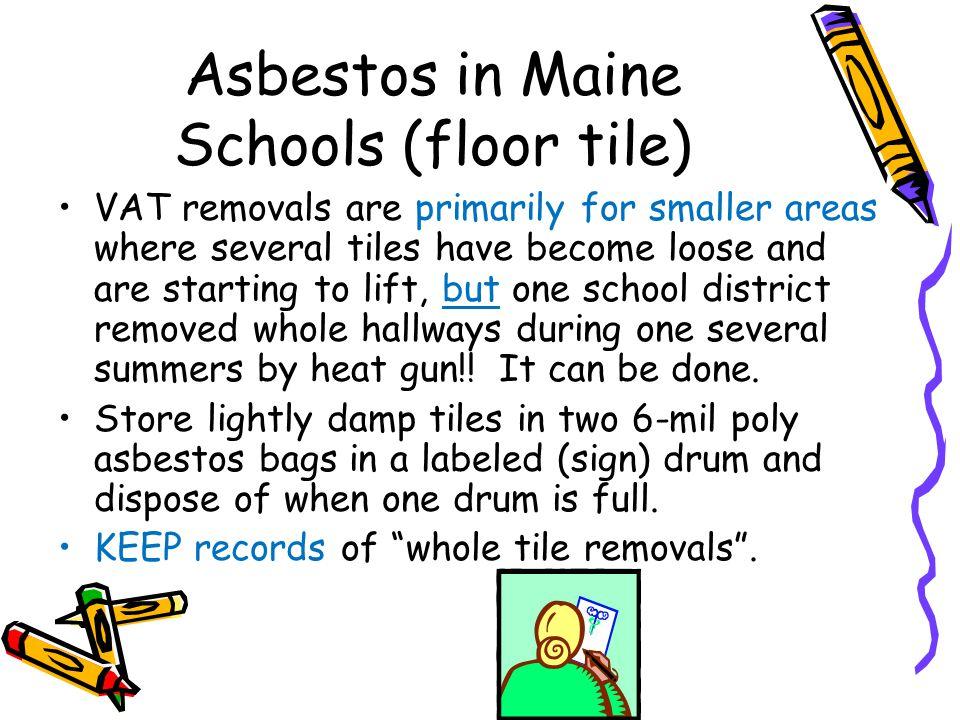 Asbestos in Maine Schools (floor tile)