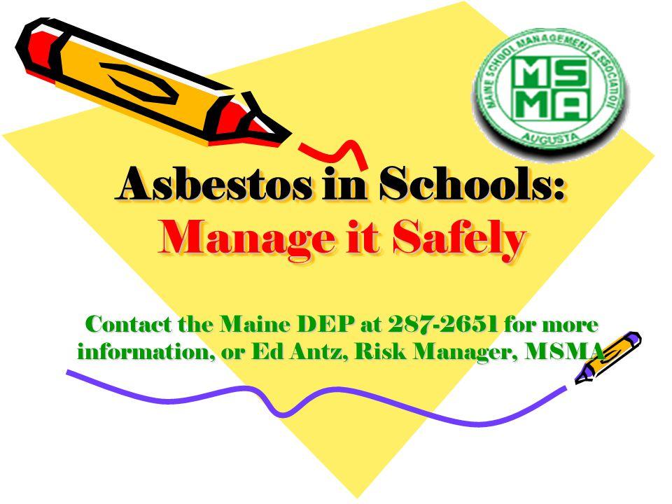 Asbestos in Schools: Manage it Safely