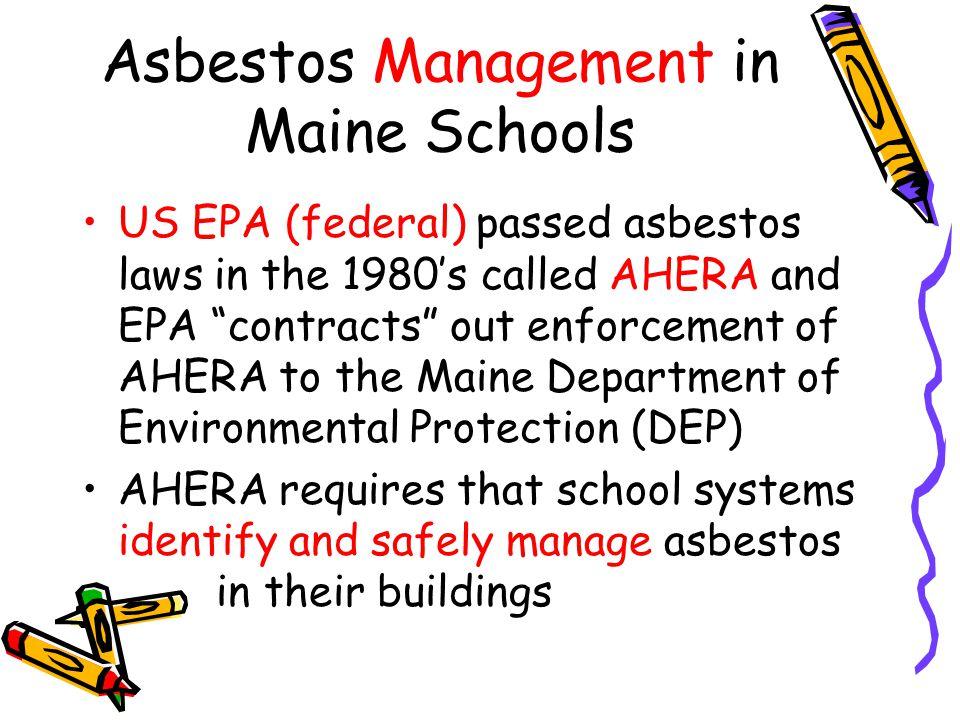 Asbestos Management in Maine Schools