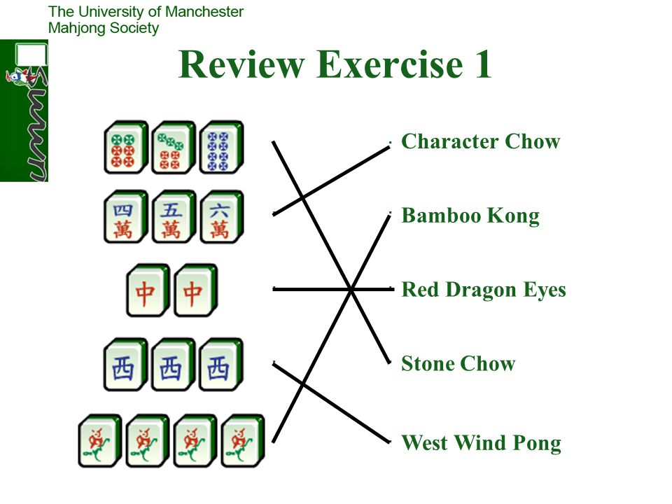 Review Exercise 1 Character Chow Bamboo Kong Red Dragon Eyes