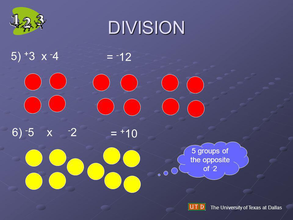5 groups of the opposite of -2
