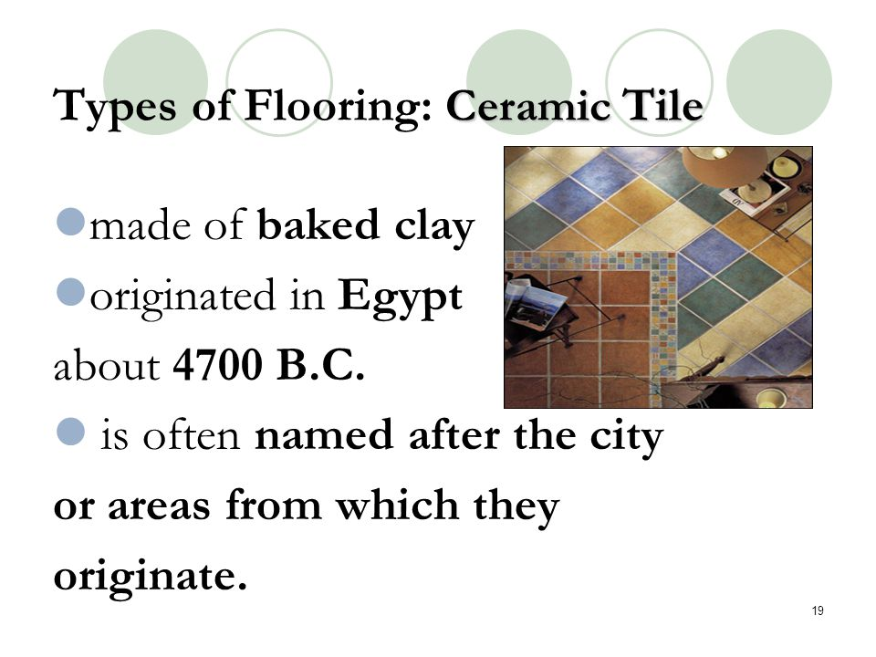 Types of Flooring: Ceramic Tile