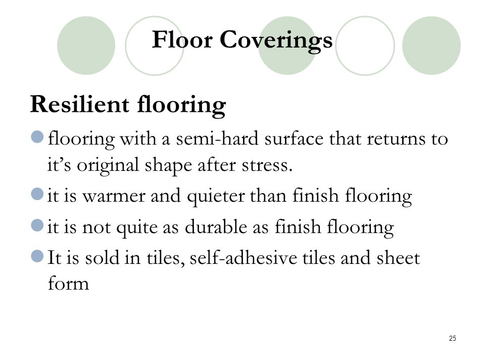 Floor Coverings Resilient flooring