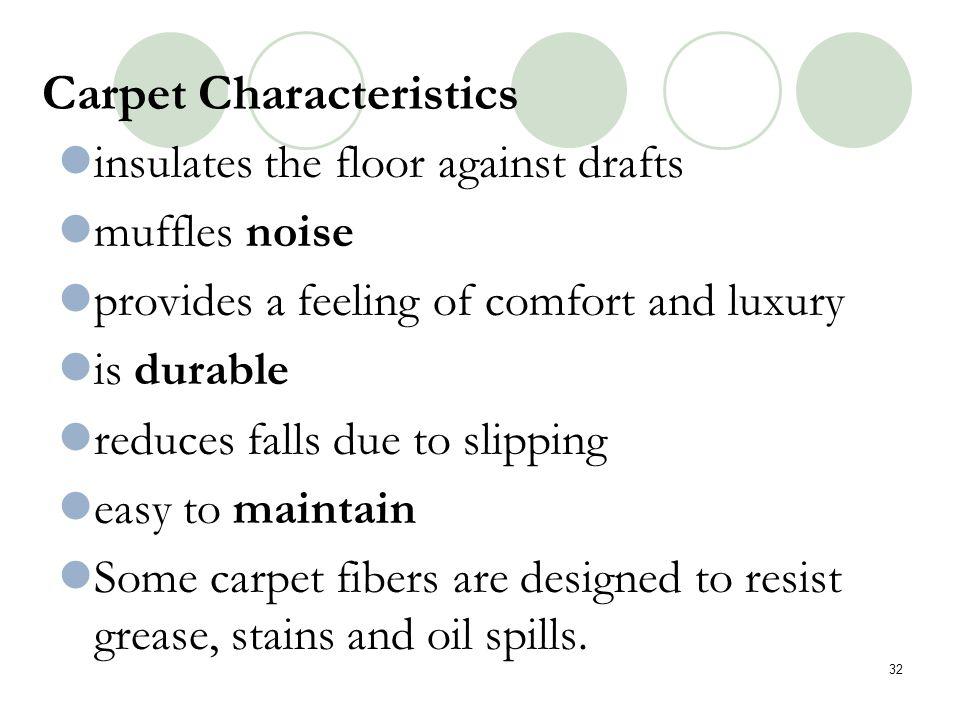 Carpet Characteristics