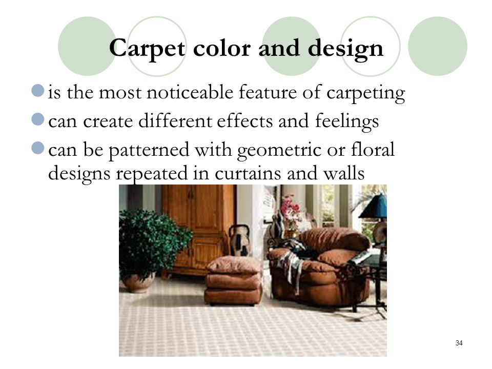 Carpet color and design