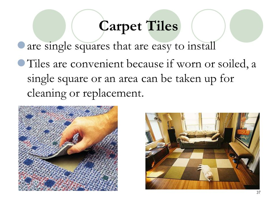 Carpet Tiles are single squares that are easy to install