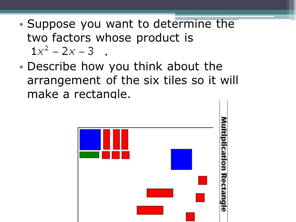 Suppose you want to determine the two factors whose product is .