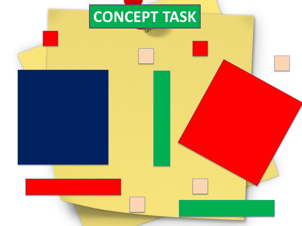 CONCEPT TASK These are examples of the Algebra Tiles and each one represents an area.Give studets a minute to play with them.