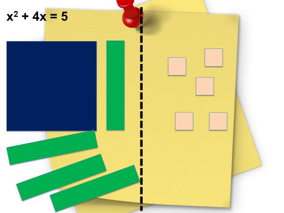 x2 + 4x = 5
