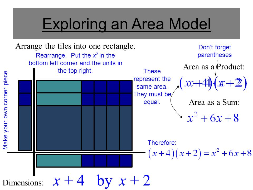 Exploring an Area Model