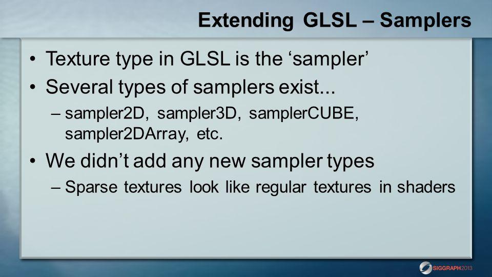Extending GLSL – Samplers