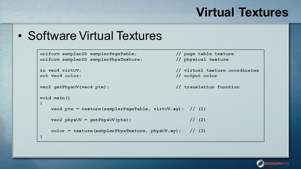 Virtual Textures Software Virtual Textures