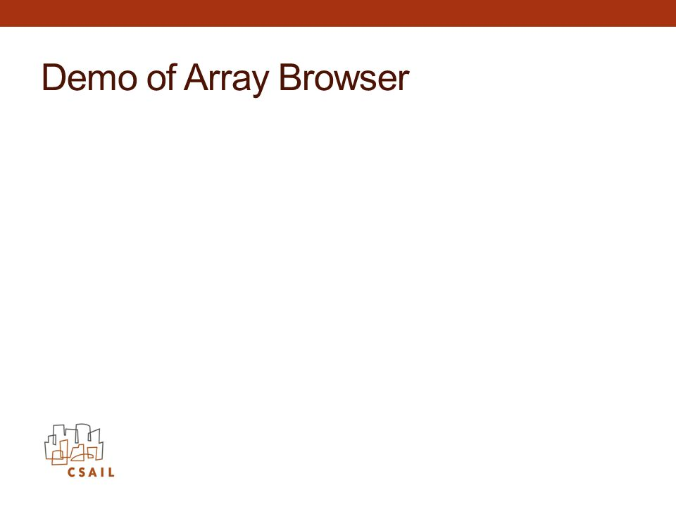 Demo of Array Browser