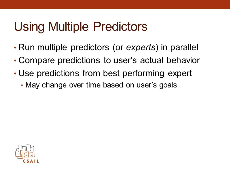 Using Multiple Predictors