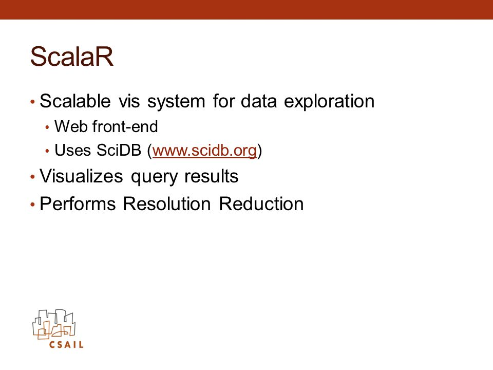 ScalaR Scalable vis system for data exploration