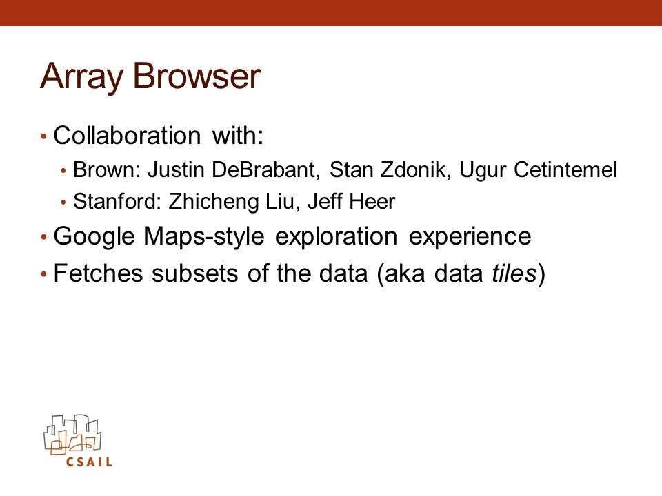Array Browser Collaboration with: