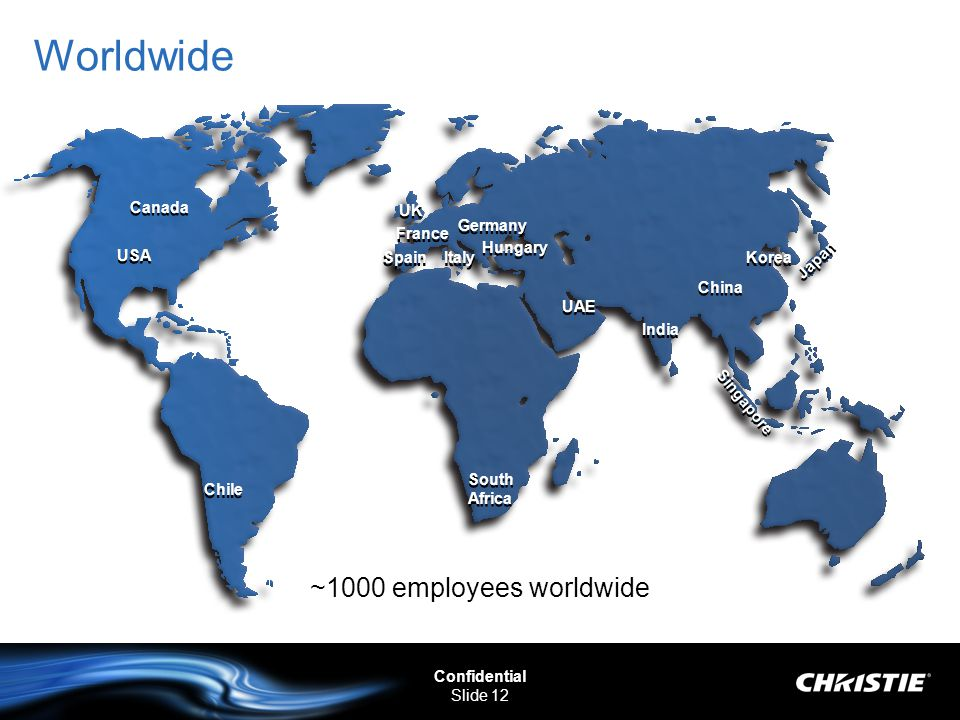 Worldwide ~1000 employees worldwide Canada UK Germany France Hungary