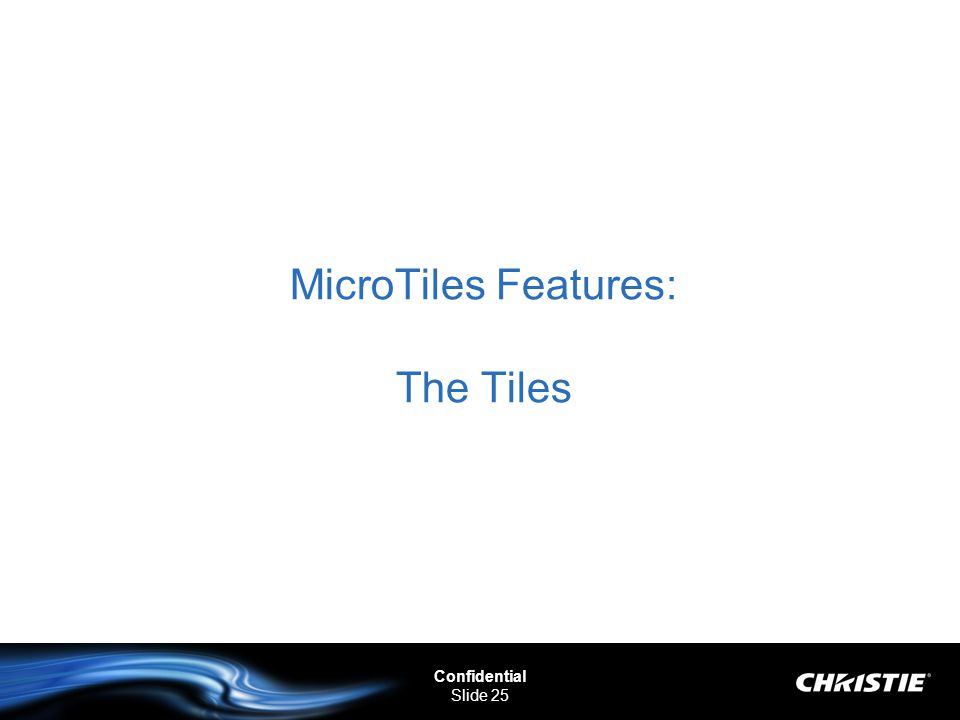 MicroTiles Features: The Tiles