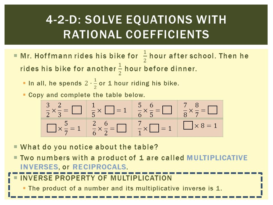 4-2-d: Solve equations with rational coefficients