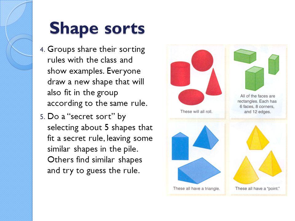 Shape sorts