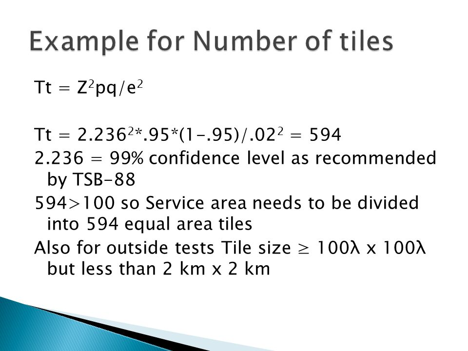 Example for Number of tiles