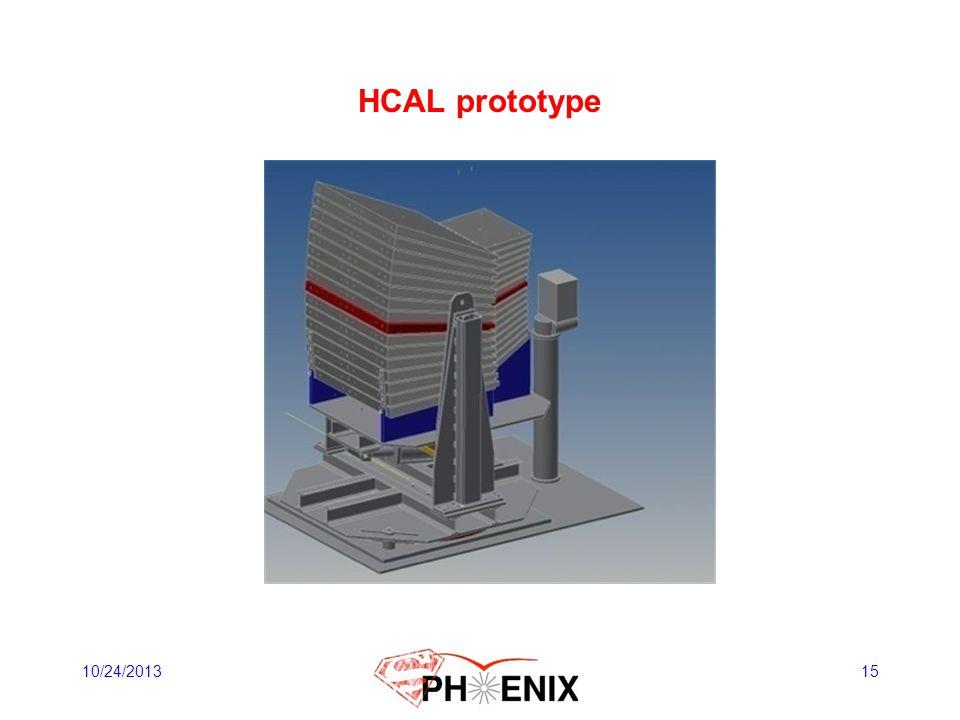 HCAL prototype 10/24/2013