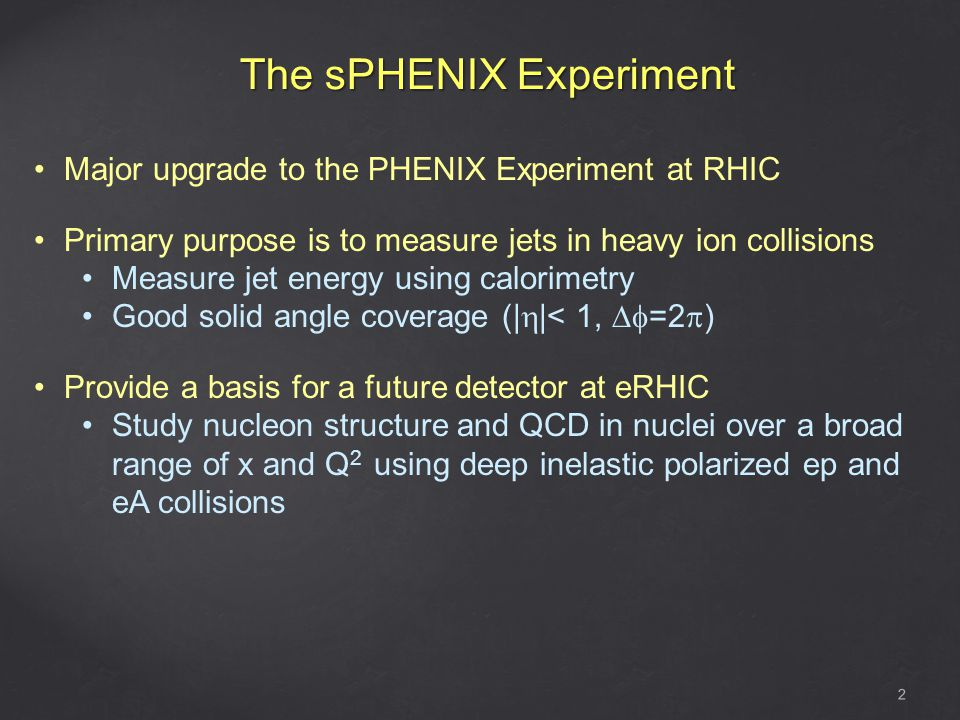 The sPHENIX Experiment