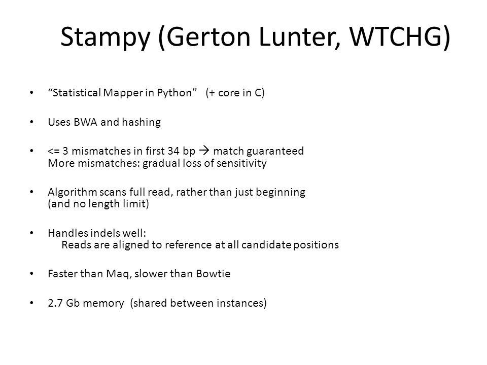 Stampy (Gerton Lunter, WTCHG)