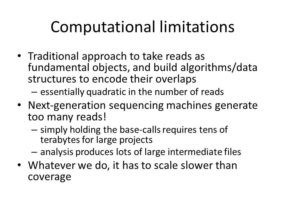 Computational limitations