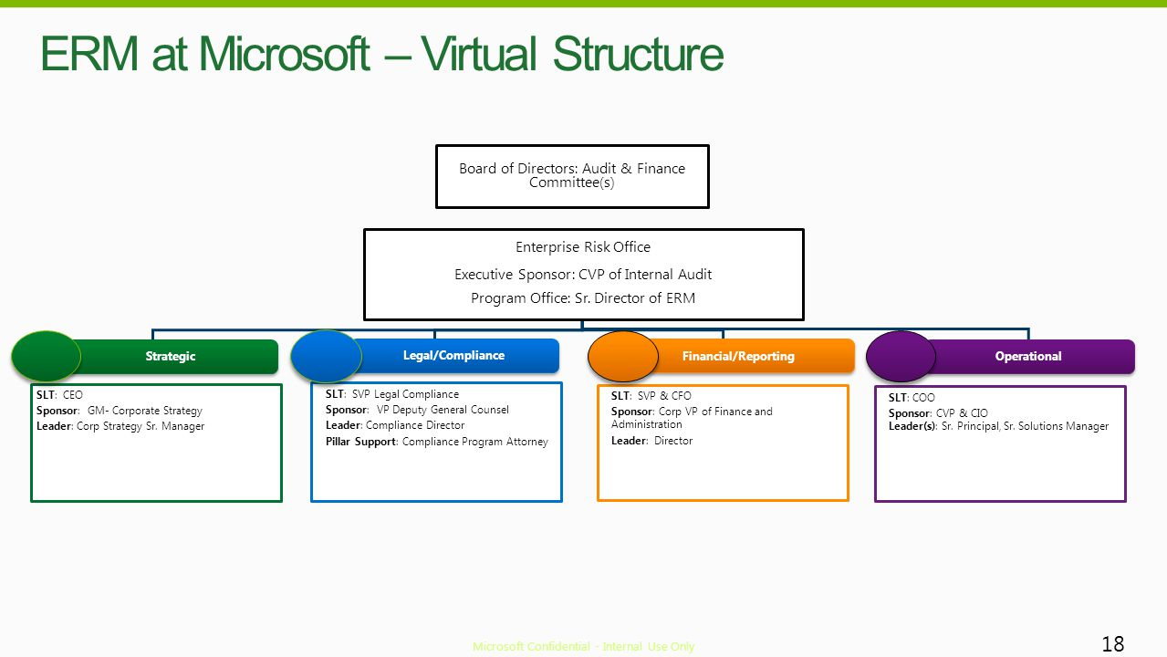 ERM at Microsoft – Virtual Structure