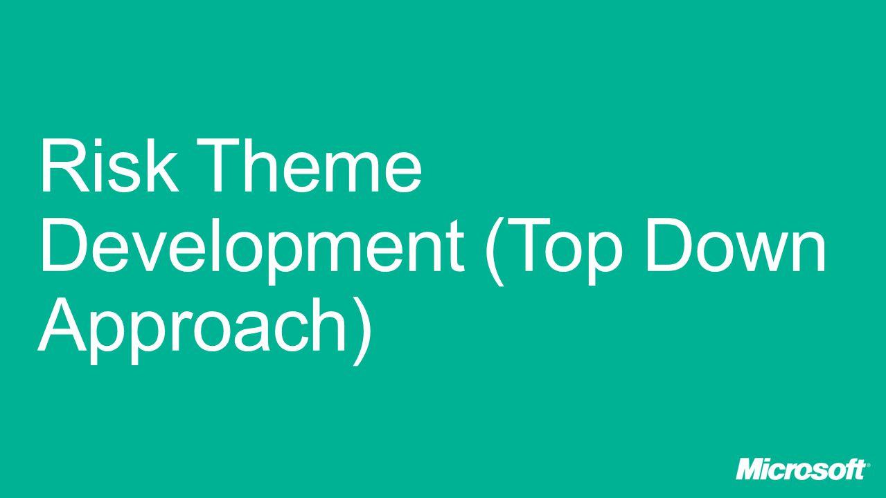 Risk Theme Development (Top Down Approach)