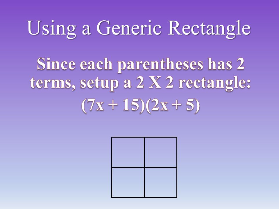 Using a Generic Rectangle