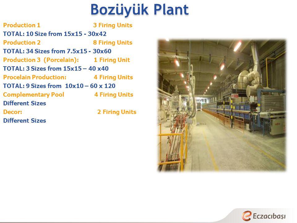 Bozüyük Plant Production 1 3 Firing Units