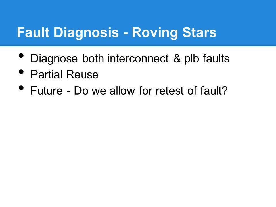 Fault Diagnosis - Roving Stars