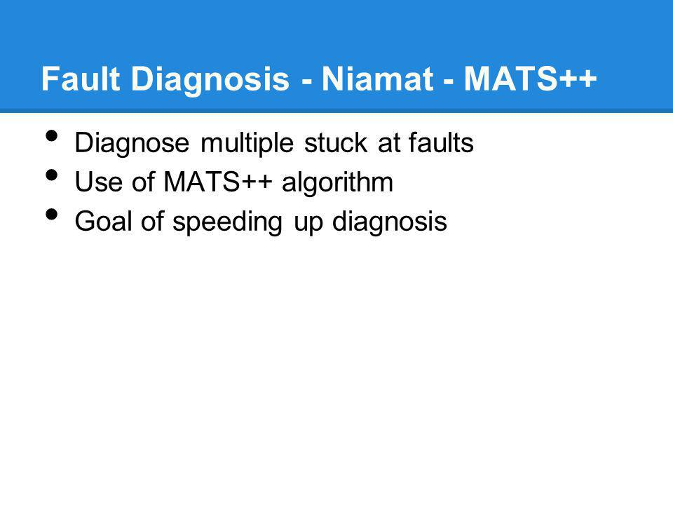 Fault Diagnosis - Niamat - MATS++