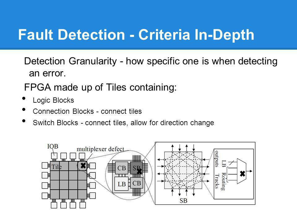 Fault Detection - Criteria In-Depth