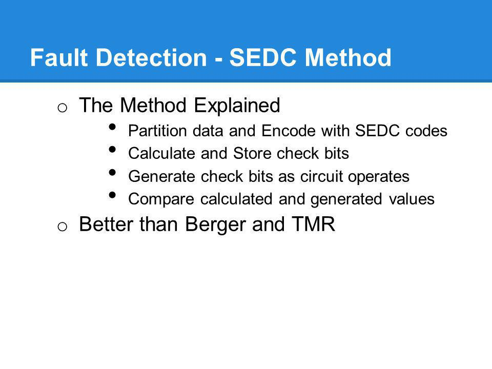 Fault Detection - SEDC Method