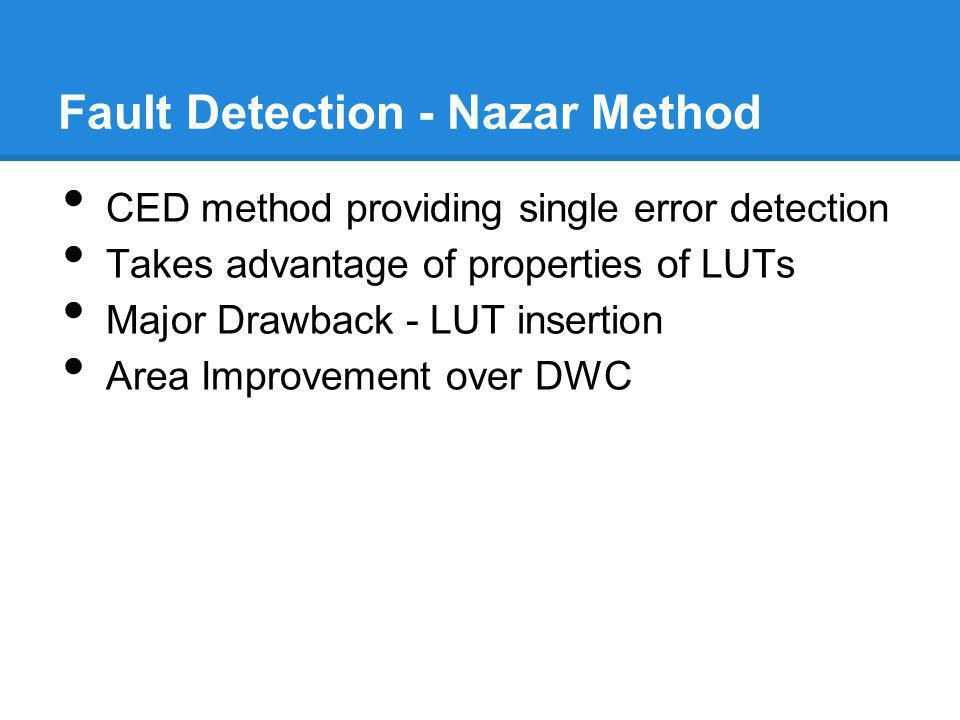 Fault Detection - Nazar Method