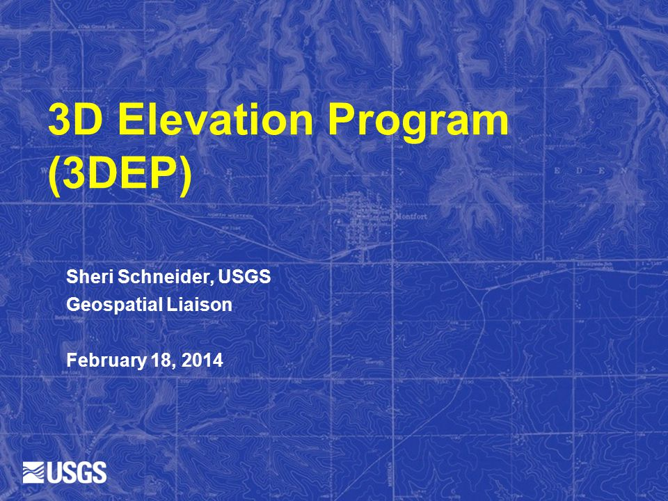 3D Elevation Program (3DEP)