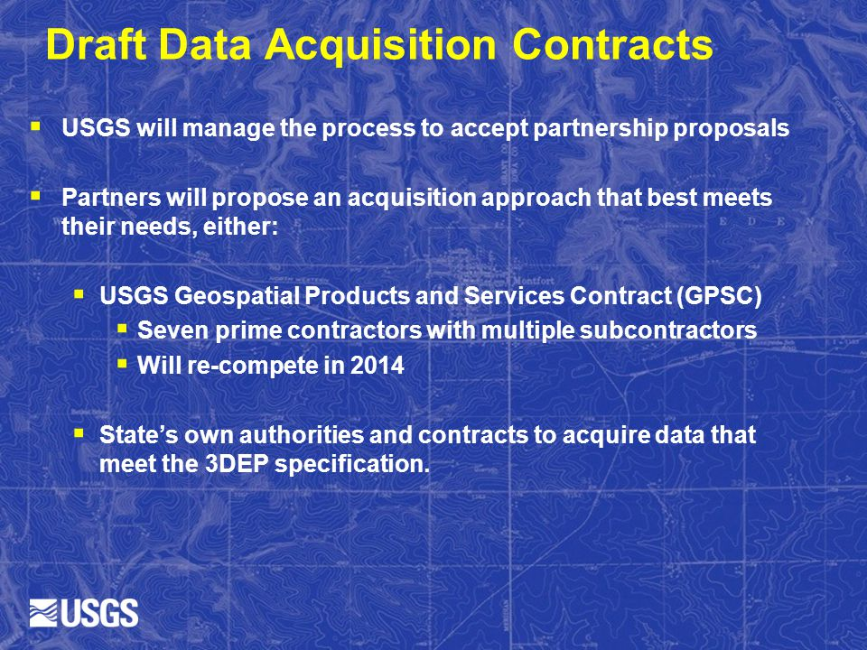 Draft Data Acquisition Contracts